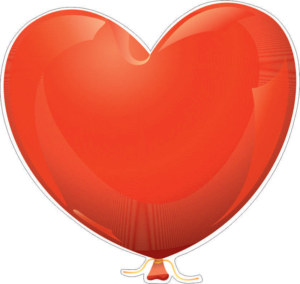 Наклейки Шар сердце, дизайн #06607