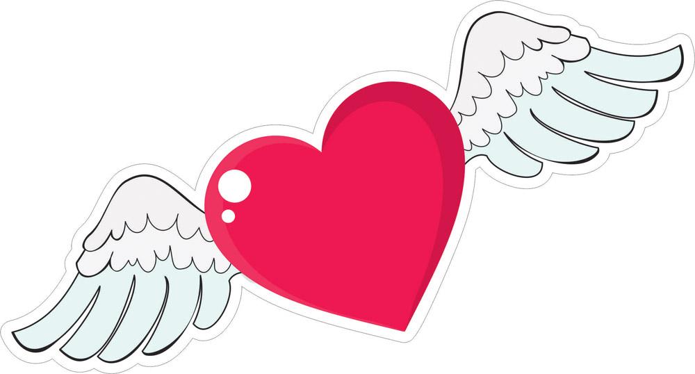 Наклейки Окрылённое сердце, дизайн #06621