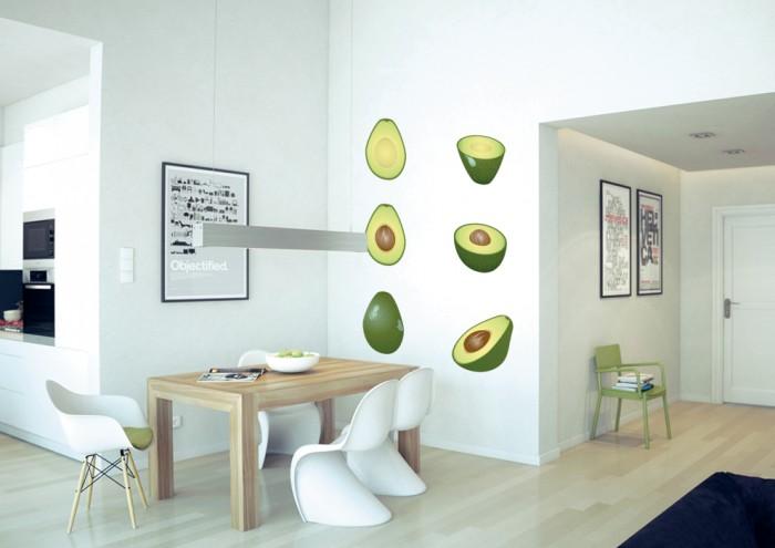 Фотообои под заказ Фотообои дизайн Авокадо пример в интерьере