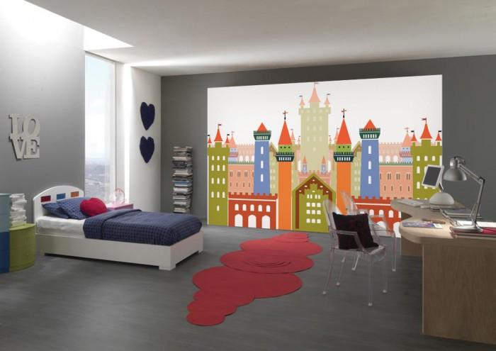 Фотообои под заказ Фотообои дизайн Замок пример в интерьере