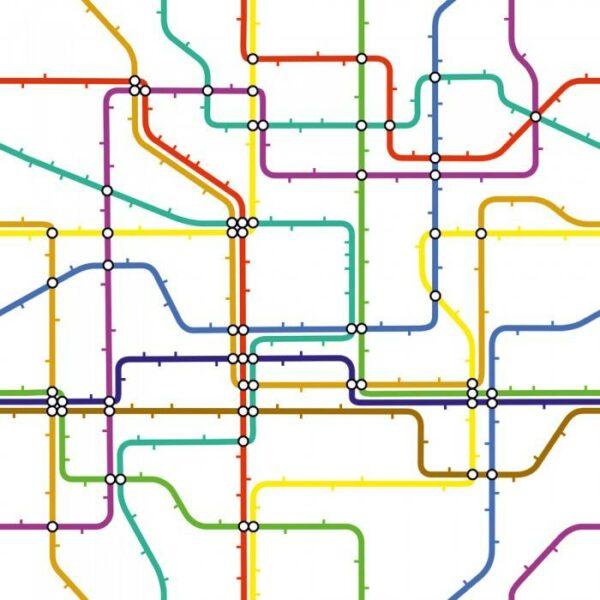 Японские панели Схема метрополитена