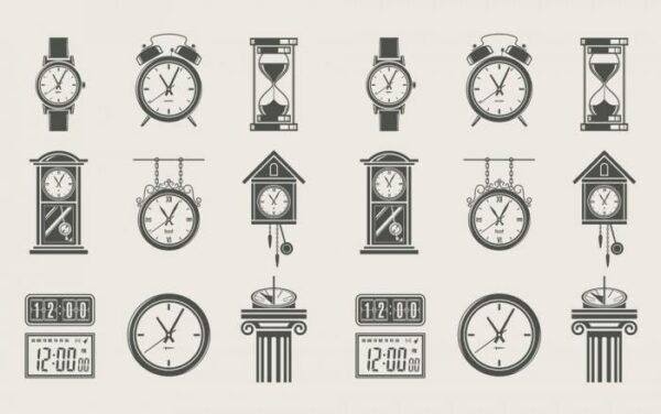 Печать на холсте Старые часы