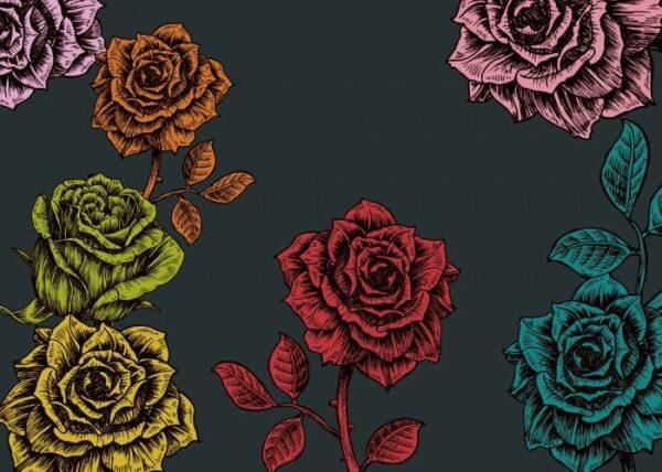 Римские шторы Розы