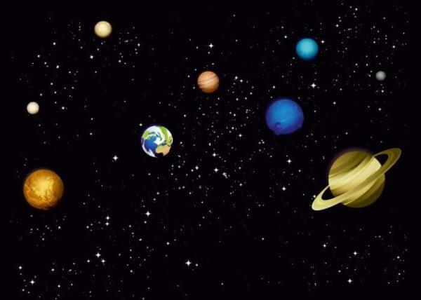 Печать на холсте Планеты