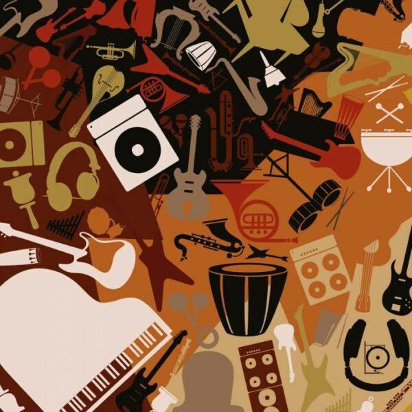 Фотообои под заказ Музыкальные инструменты