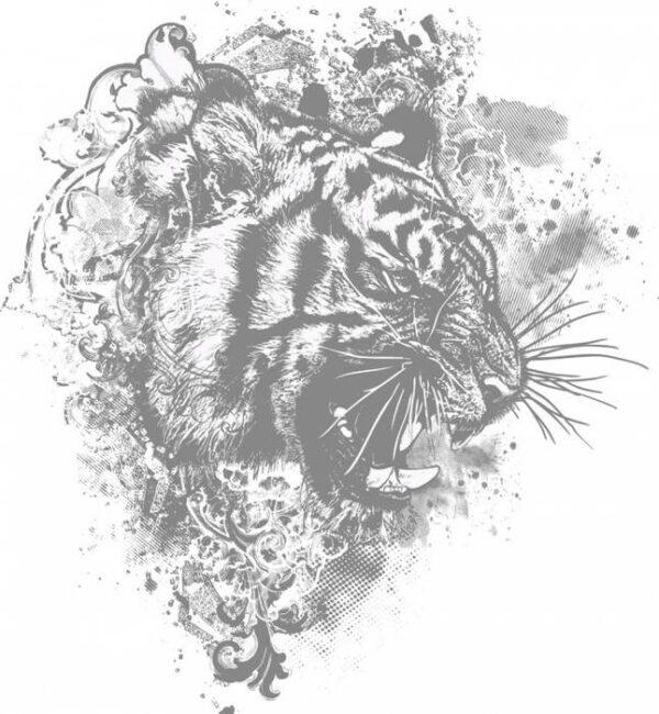 Постеры Серый тигр