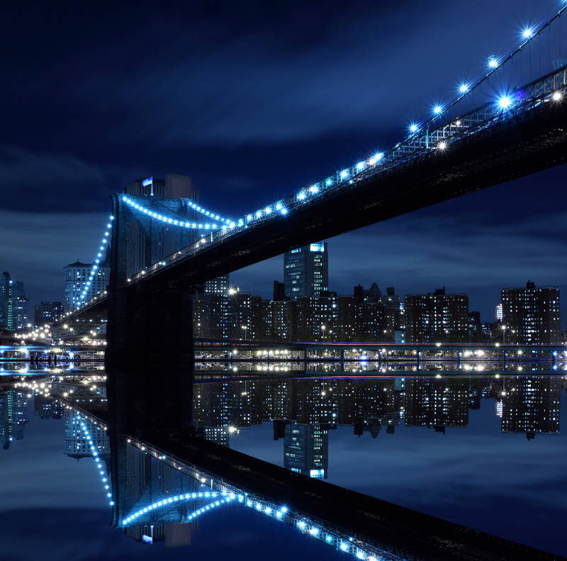 Постеры дизайн Мост ночью
