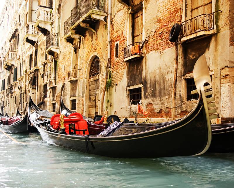 Постеры дизайн Венецианские гондолы