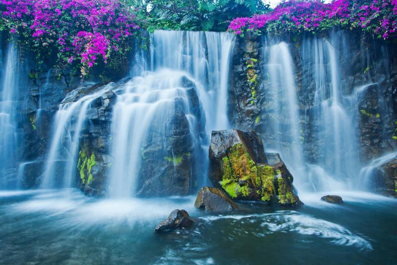 Печать на холсте Водопад с порогами