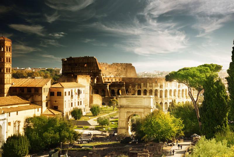 Печать на холсте Рим