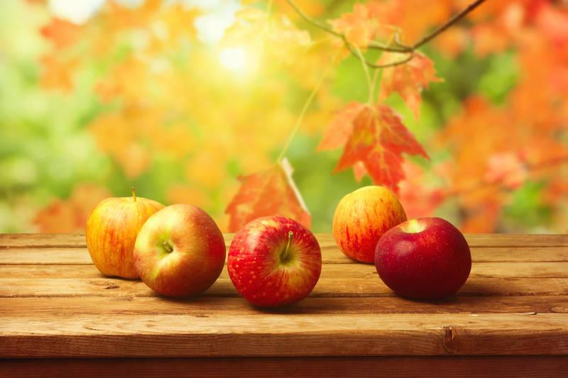 Печать на холсте Яблоки