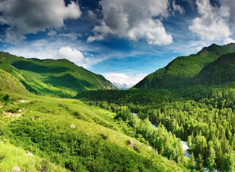 Печать на холсте Горы