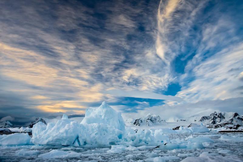 Печать на холсте Горы льда