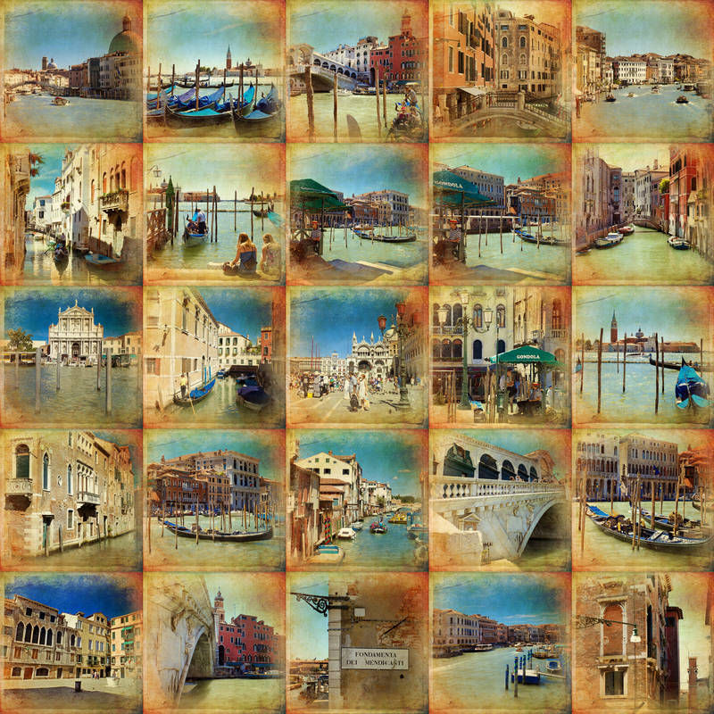 Печать на холсте Улицы старого города