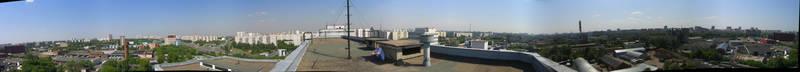 Скинали для кухни Панорама города