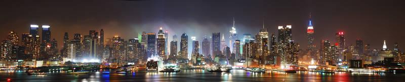 Печать на холсте Город ночью