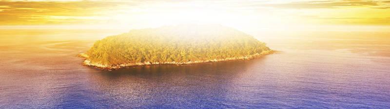 Печать на холсте Остров