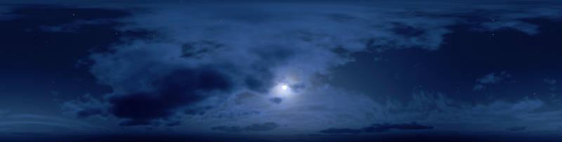 Скинали для кухни Луна за облаками