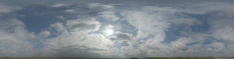 Облака и солнце