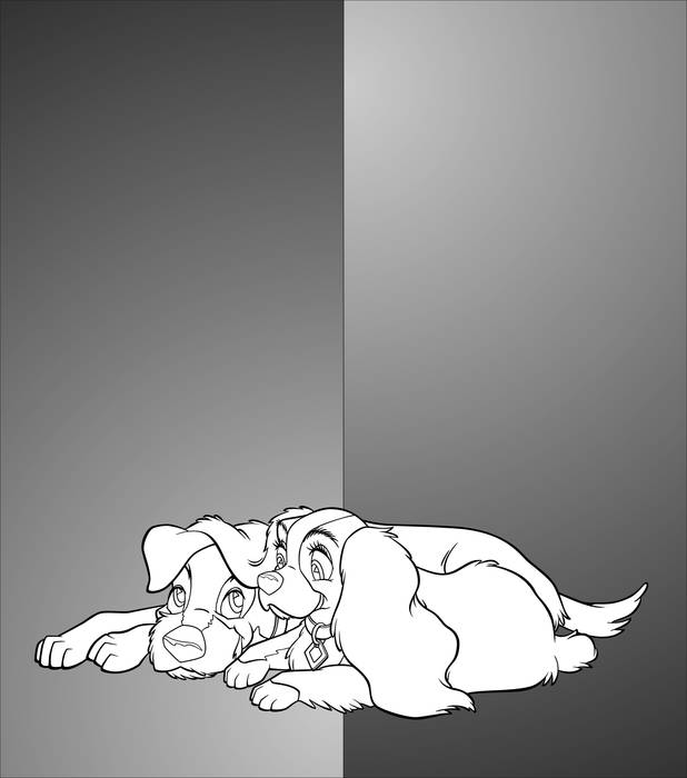 Матирование стекла Собаки