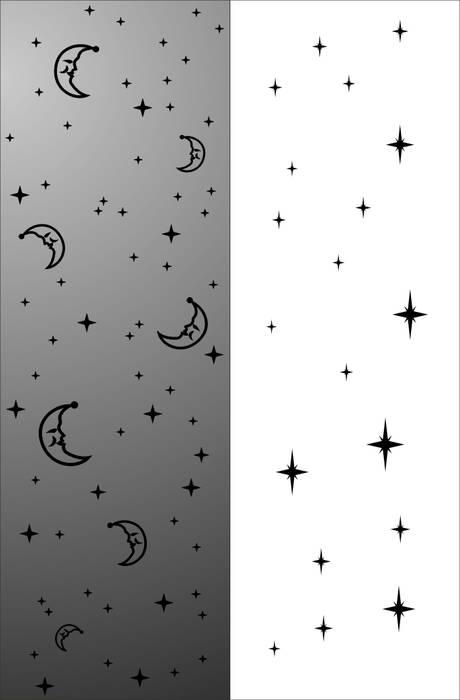 Матирование стекла Ночное небо