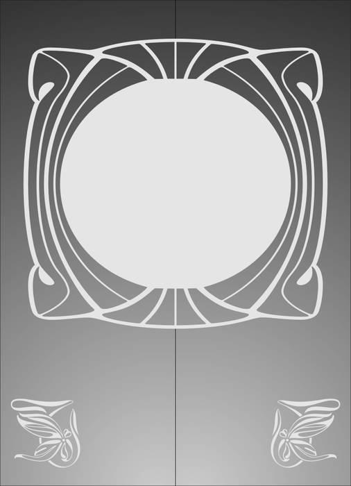 Матирование стекла Круг