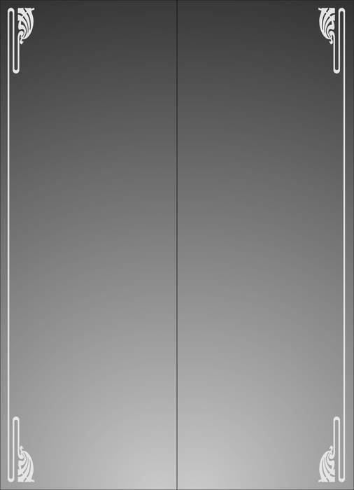 Матирование стекла Тонкая рамка
