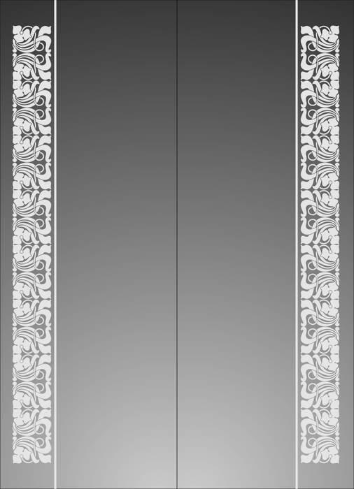 Матирование стекла Орнамент