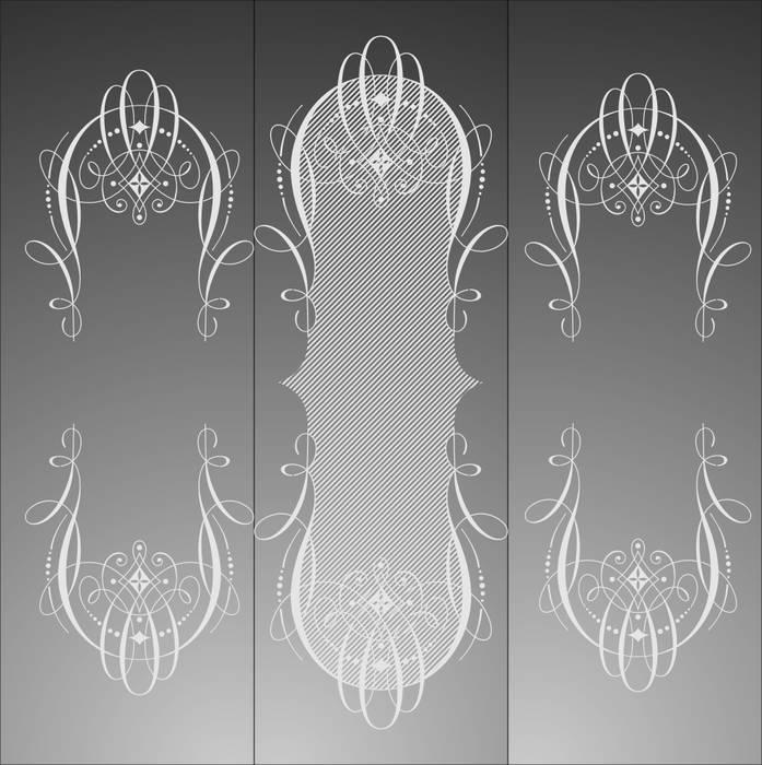 Матирование стекла Узорные рамки