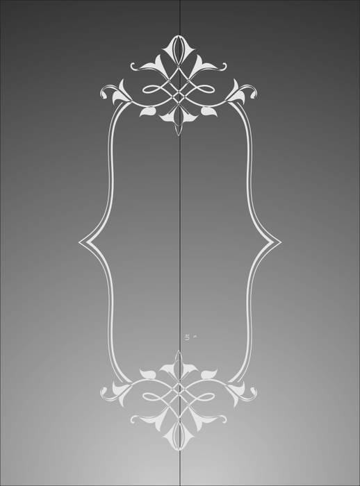 Матирование стекла Фигурная рамка
