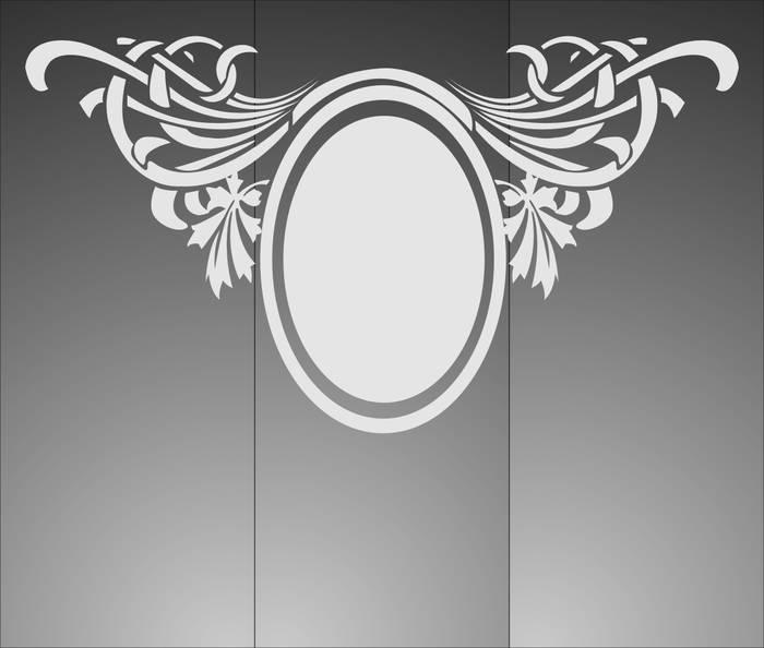 Матирование стекла Овальная рамка