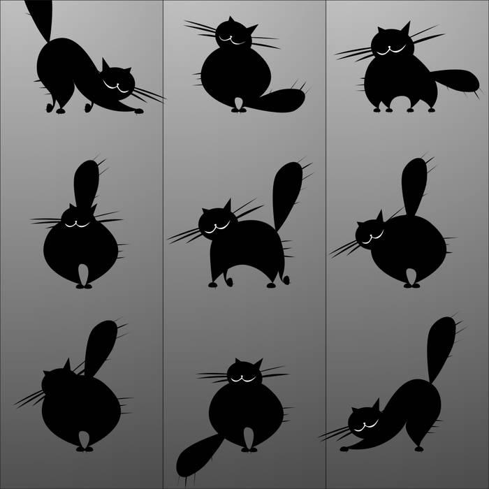 Матирование стекла Коты