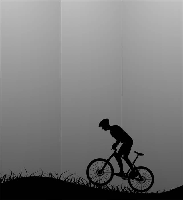 Матирование стекла Велопрогулка