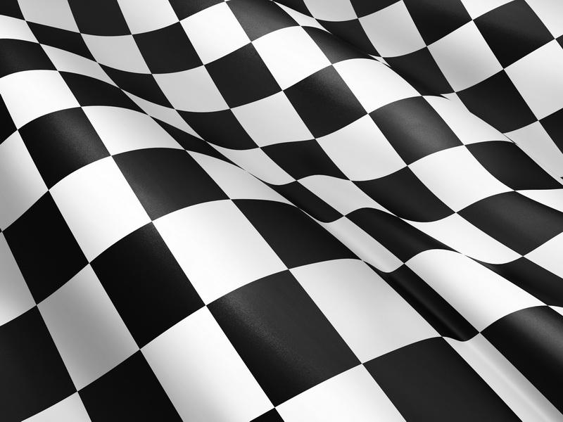 Японские панели Чёрно-белый флаг, дизайн #05838