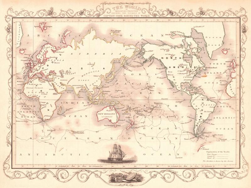 Японские панели Старая карта, дизайн #05840