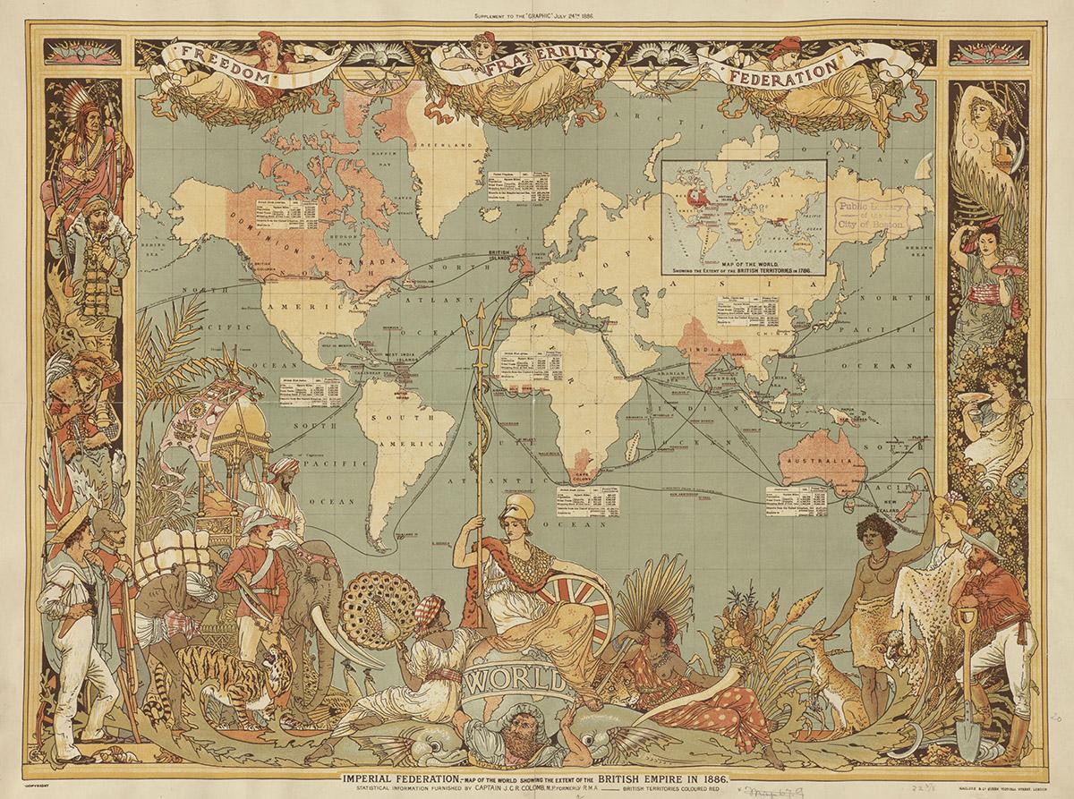 Японские панели Древняя карта, дизайн #05919