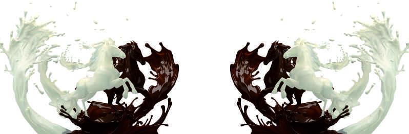 Белый и чёрный шоколад, дизайн #05976