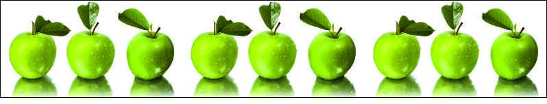 Зелёные яблоки, дизайн #05982
