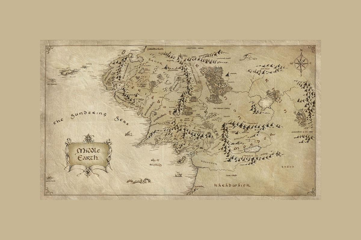 Рольшторы Карта Средиземья, дизайн #06087