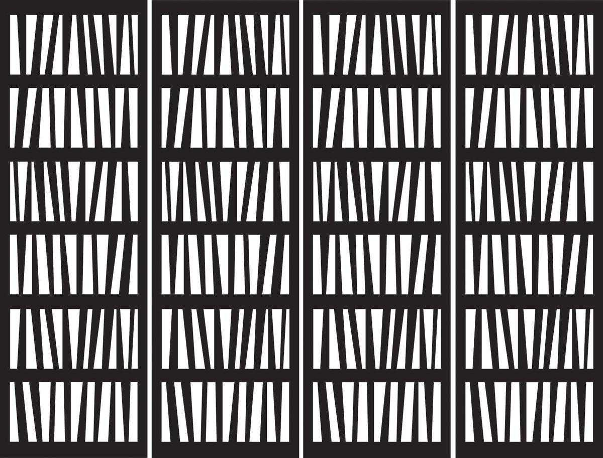 Японские панели Книжные полки, дизайн #06088
