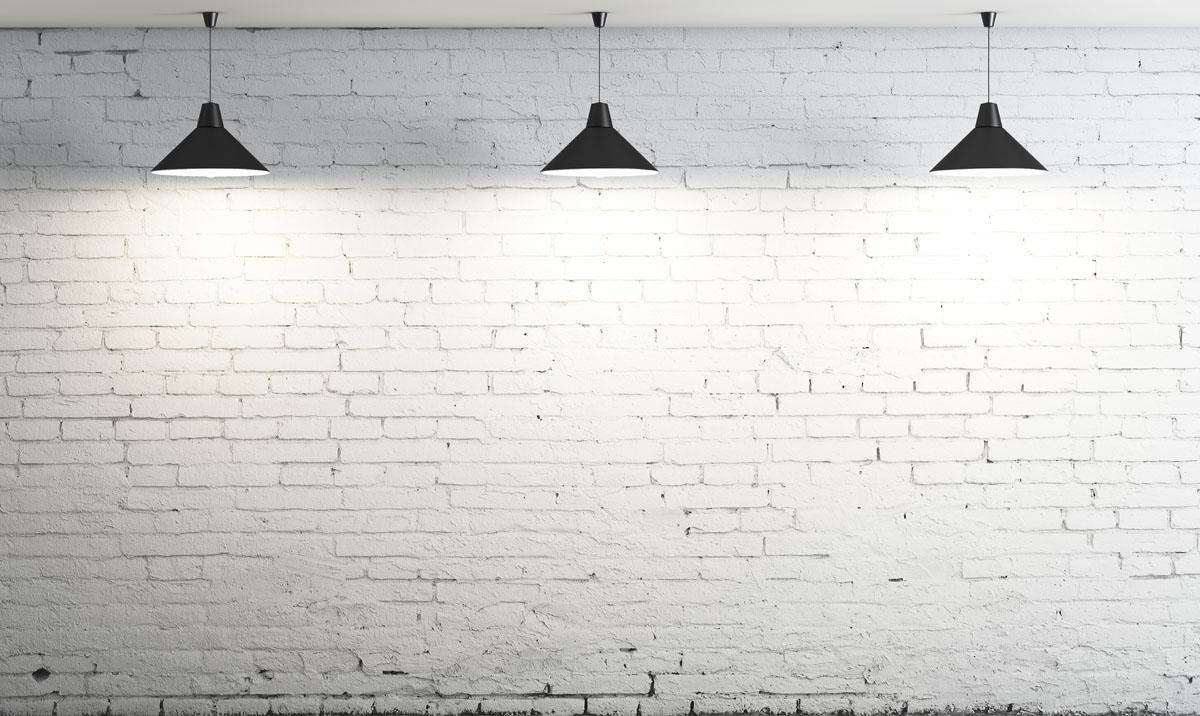 Рольшторы Кирпичная стена с лампами, дизайн #06143