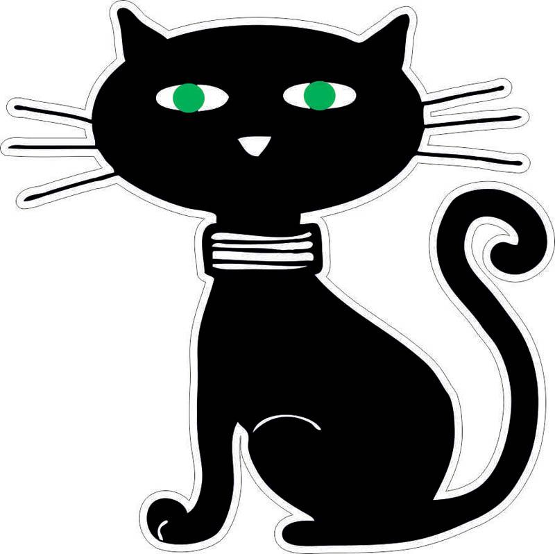 Наклейки Чёрный кот, дизайн #06275