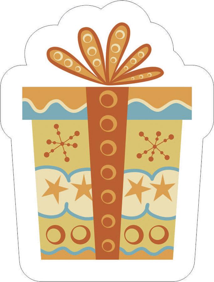Наклейки Рождественский подарок, дизайн #06490