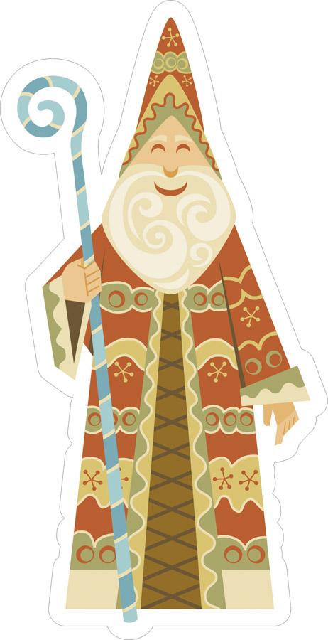 Наклейки Рождественский Санта, дизайн #06496