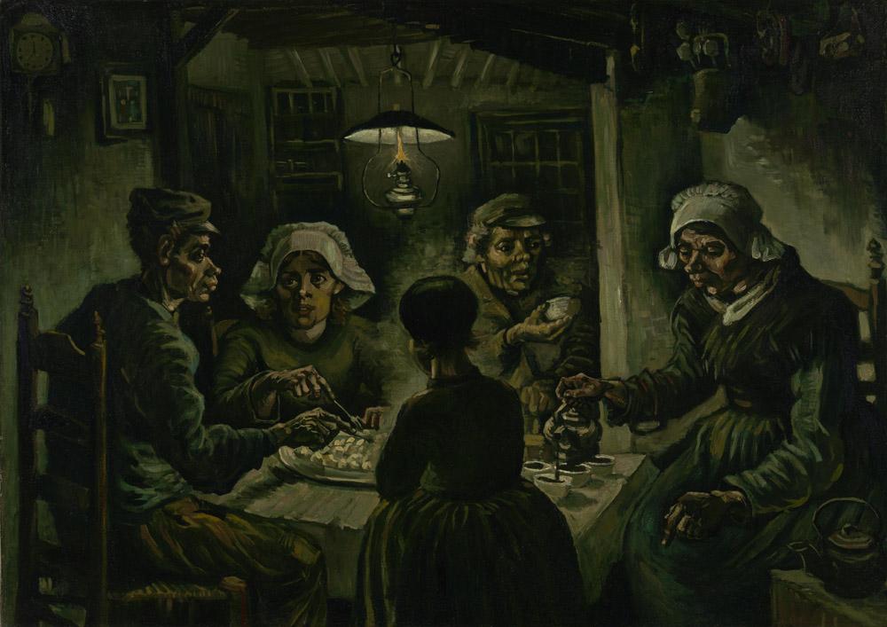 Римские шторы Ван Гог Едоки картофеля, дизайн #06798
