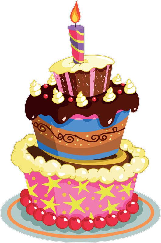 Наклейки Праздничный торт, дизайн #07096