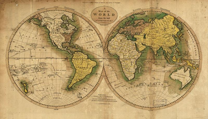 Печать на холсте Старая карта, дизайн #07173