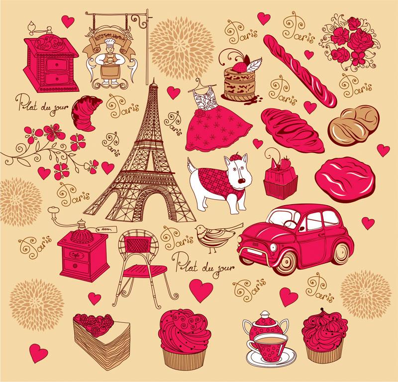 Постеры Париж, дизайн #07454