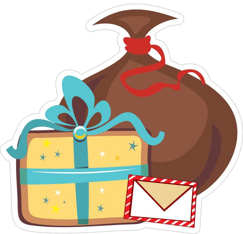 Наклейки Подарки, дизайн #07818