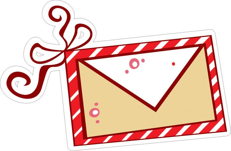 Наклейки Письмо Деду Морозу, дизайн #07819